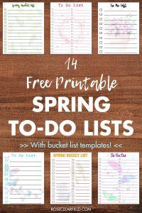 14 Free Spring Printable To Do Lists