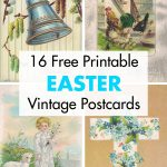 16 Free Printable Easter Vintage Postcards