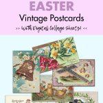 16 Free Printable Easter Vintage Postcards