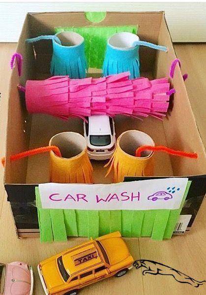DIY Box Toy Car Wash