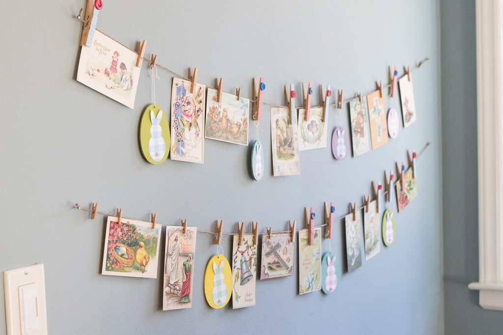 Hanging Easter Display in the Kitchen