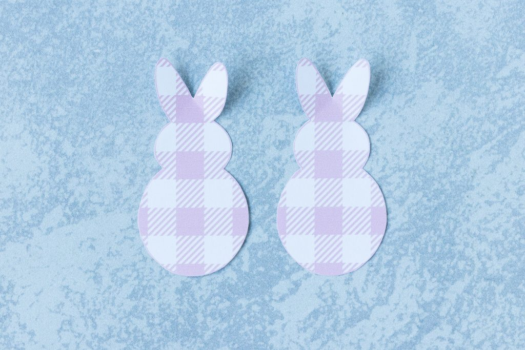 Plaid Paper Bunnies for Easter Crafts