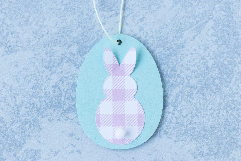 DIY Easter Egg Bunny Ornament in Progress