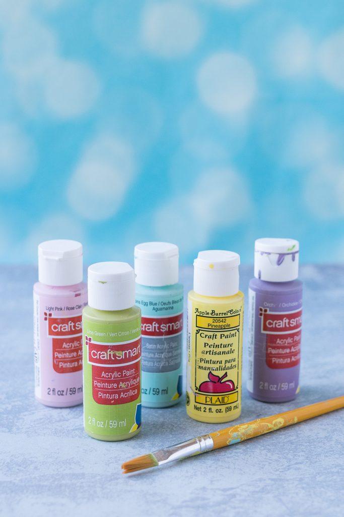 Acrylic Paints in Pastel Colors
