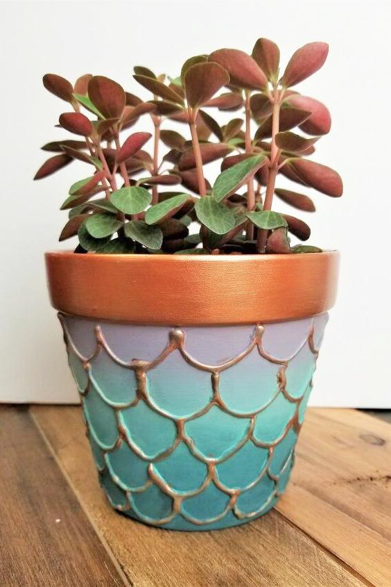 DIY Embossed Mermaid Flower Pots Hometalk