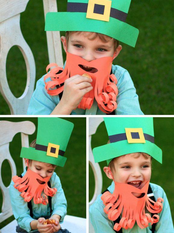 DIY Leprechaun Hat and Beard Paging Super Mom