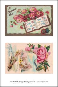 Free Printable Vintage Birthday Postcards