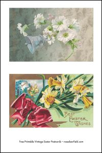 Free Printable Vintage Easter Postcards Full Set Preview