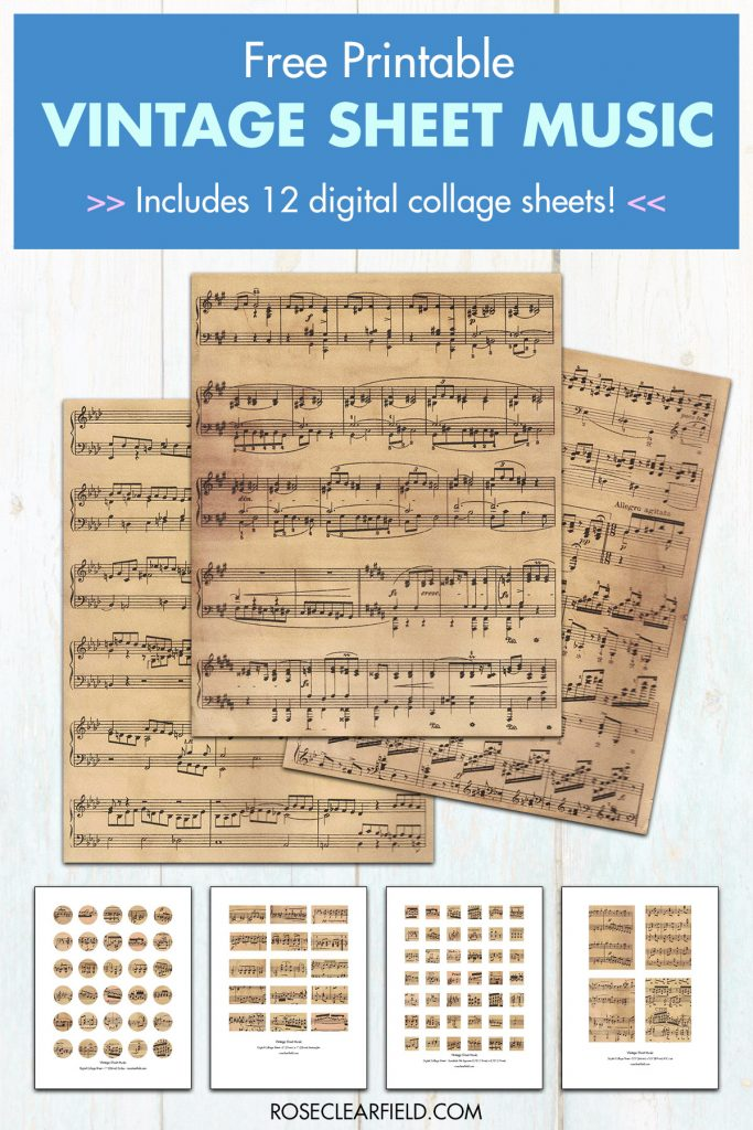Free Printable Vintage Sheet Music
