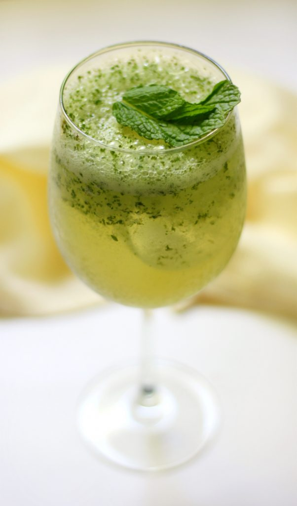 Frosty Coconut Mint Green Tea Mocktail Strength and Sunshine