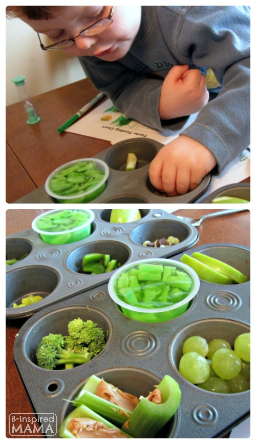 Green Foods Taste Test for St. Patrick's Day B Inspired Mama