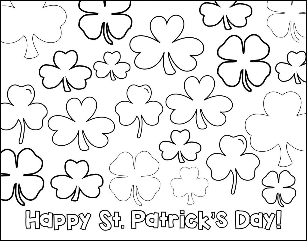 Happy St. Patrick's Day with Shamrocks
