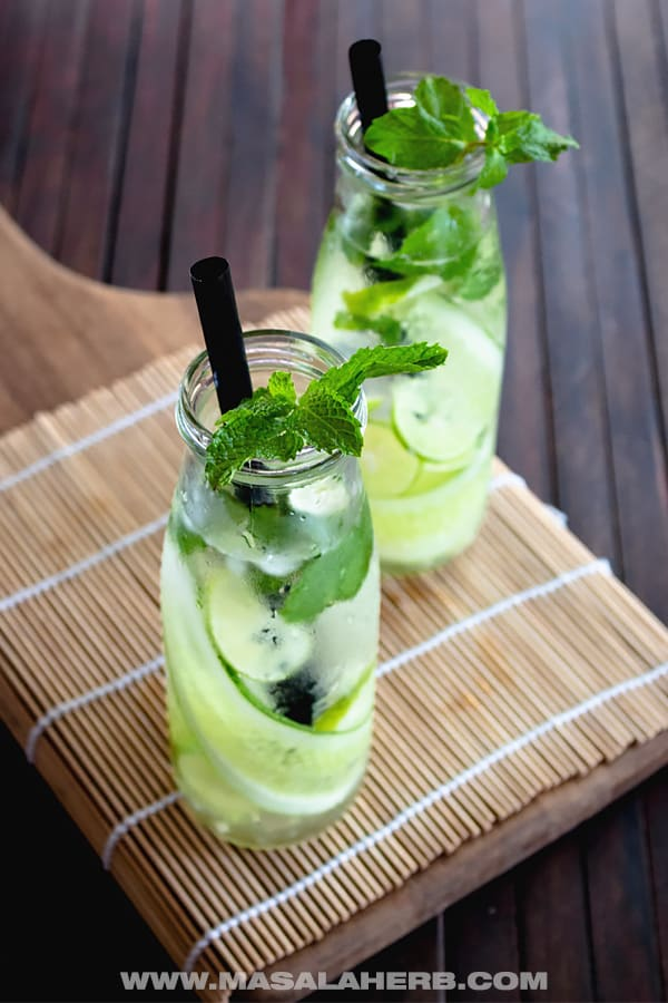 Lemon Cucumber Mint Water Masala Herb