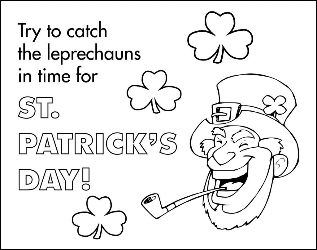 Leprechauns St. Patrick's Day Placemat to Color