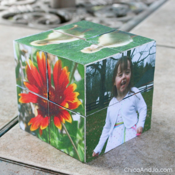 Magic Folding Wooden Photo Cubes Chica and Jo