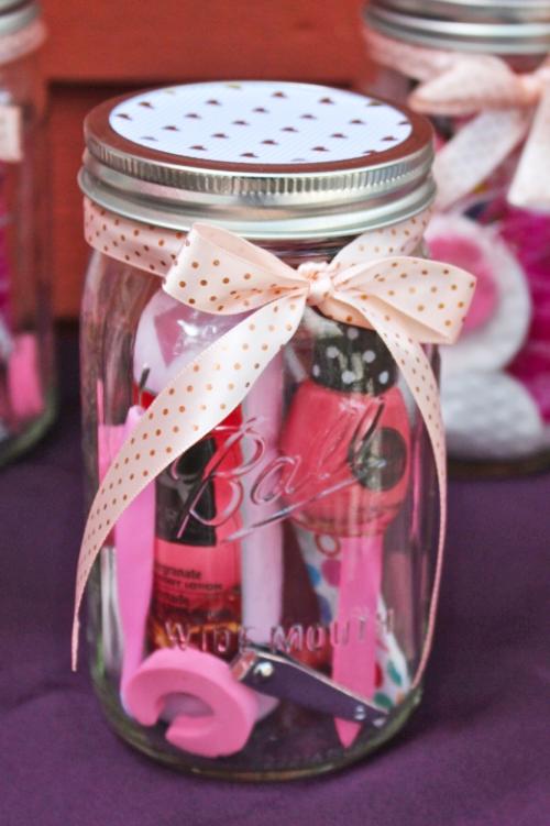 Manicure Pedicure Mason Jar Gift Idea Weekend Craft