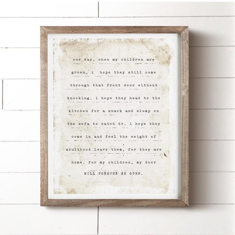 One Day When My Children Are Grown Print HouseFenway on Etsy
