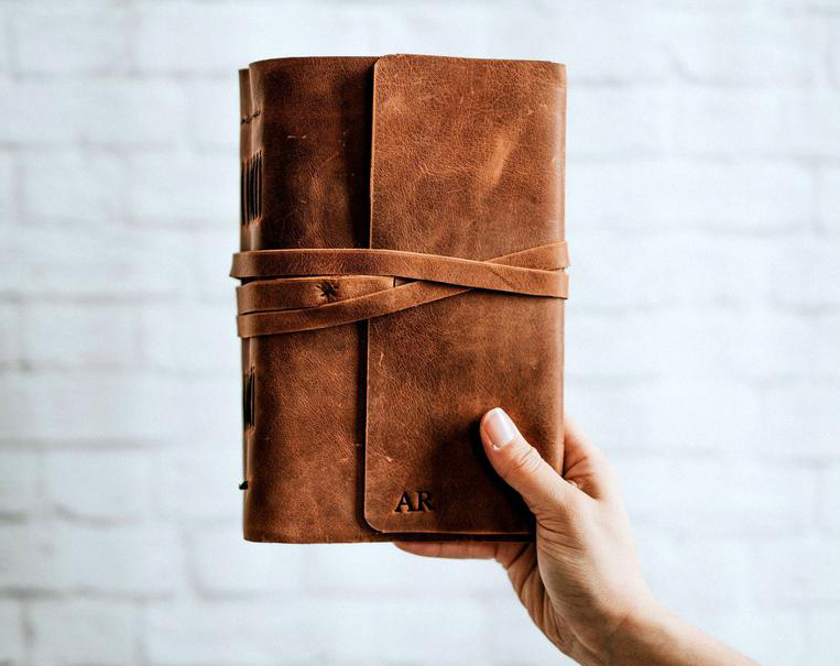 Personalized Leather Bound Journal ForestNine