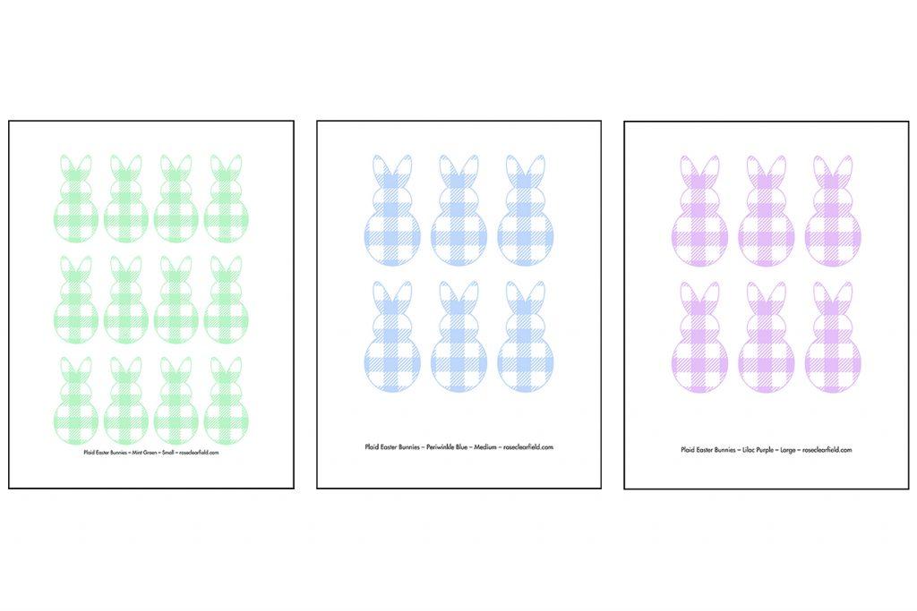 Plaid Bunny Template Previews