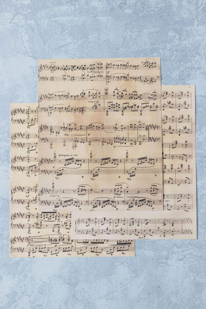Printed Vintage Sheet Music