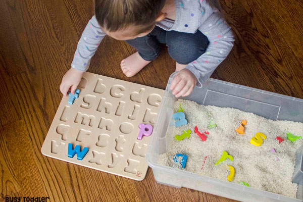 Puzzle Hunt Sensory Bin Busy Toddler