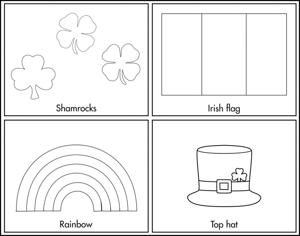 St. Patrick's Day Coloring Rectangles