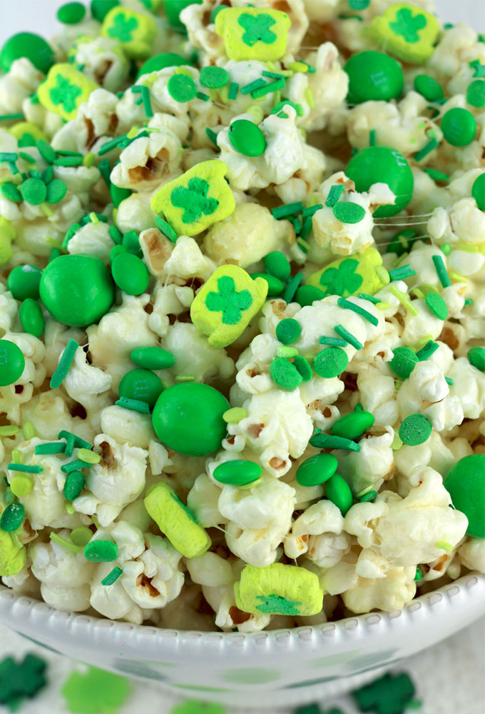 St. Patrick's Day Popcorn Two Sisters Crafting