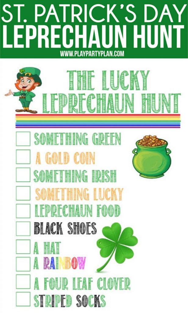 The Lucky Leprechaun Hunt Play Party Plan