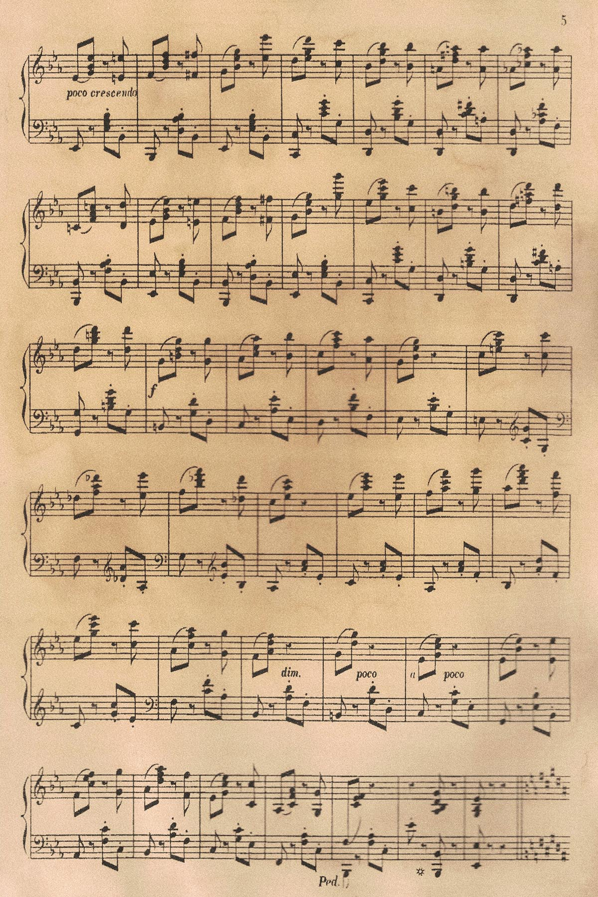 Vintage Classical Sheet Music