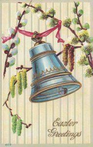 Vintage Easter Postcard Blue Bell