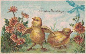 Vintage Easter Postcard Chicks