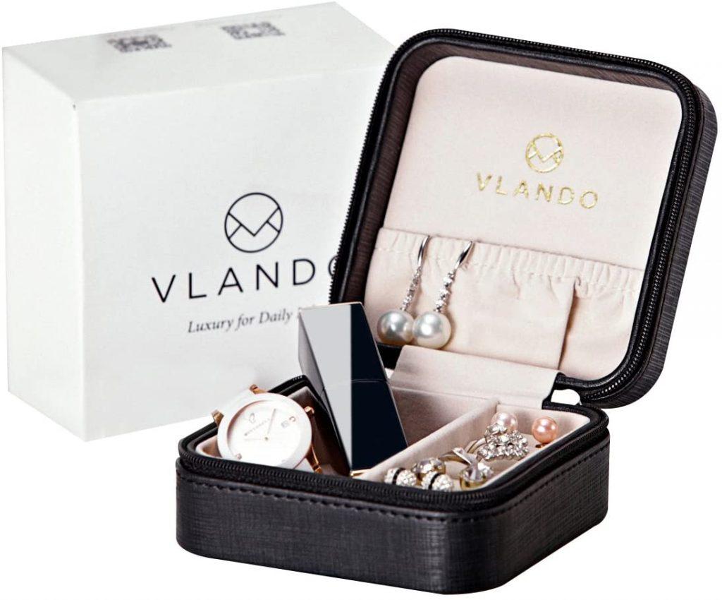 Vlando Small Travel Jewelry Box