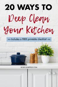20 Ways to Keep Clean Your Kitchen