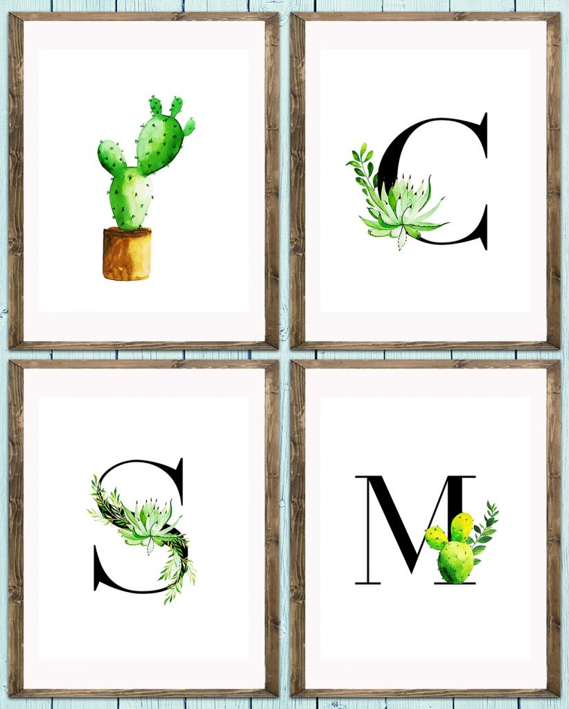 Cactus Nursery Decor Collage