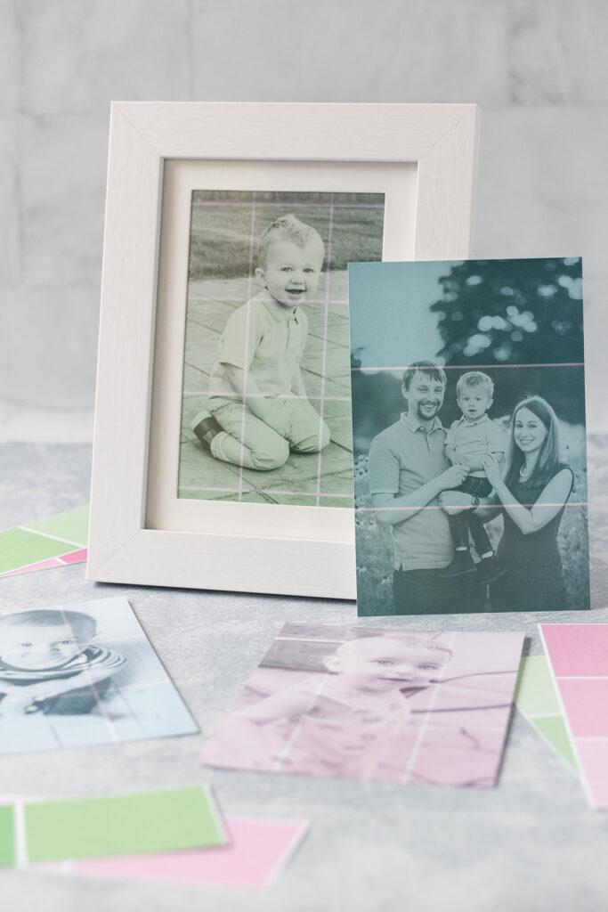 DIY Paint Chip Photo Prints