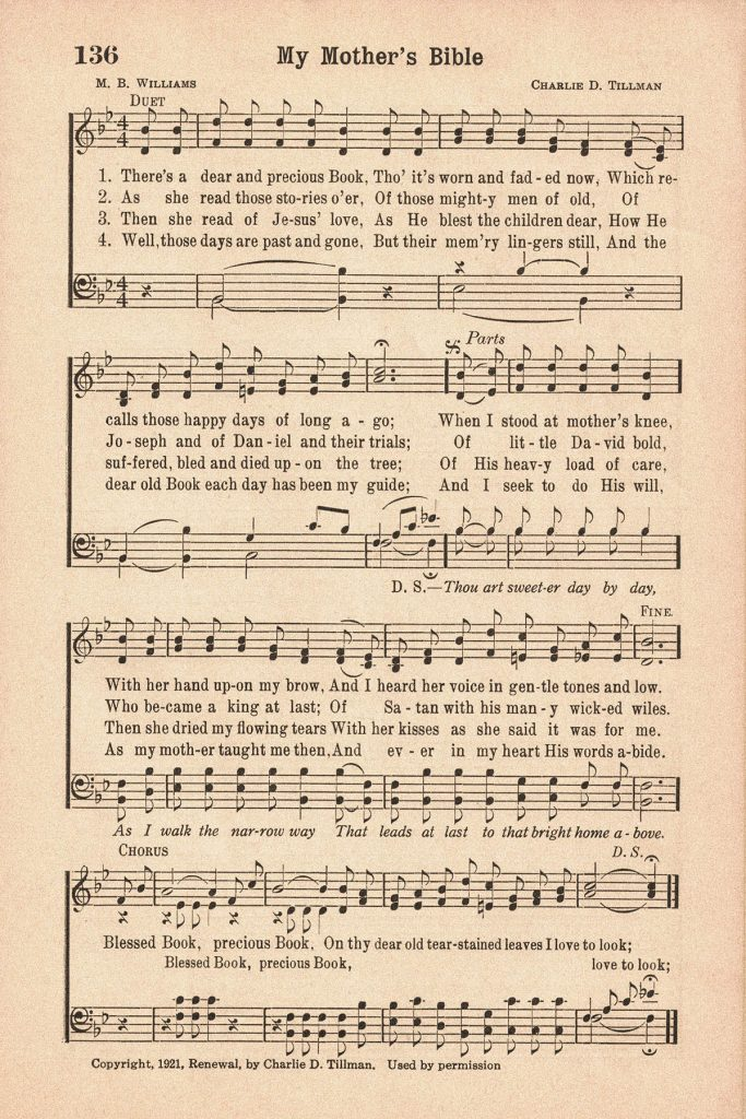 Favorite Hymns My Mother's Bible