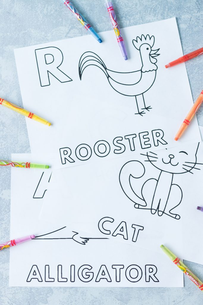 Free Alphabet Animals Worksheets to Color