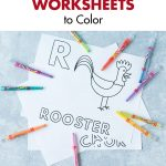 Free Alphabet Letter Animals Worksheets to Color