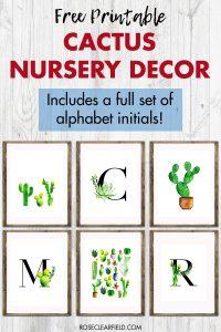 Free Printable Cactus Nursery Decor