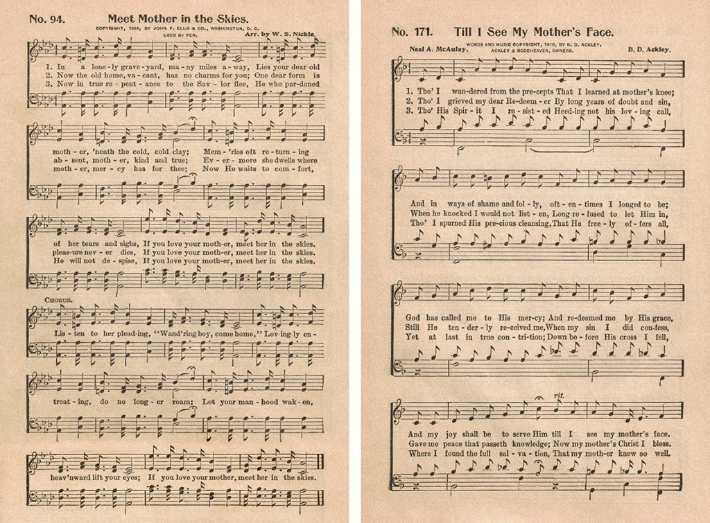 Great Revival Hymns Hymns About Mothers Collage