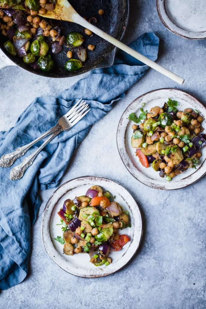 Kung Pao Chickpea Brussels Sprouts Stir Fry Ambitious Kitchen