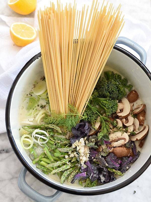 One Pot Pasta Primavera Foodiecrush