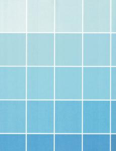 Paint Chip Scan Blue Grid
