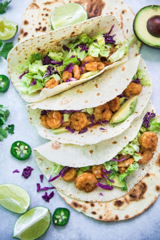 Shrimp Tacos with Cilantro Lime Slaw Kim's Cravings