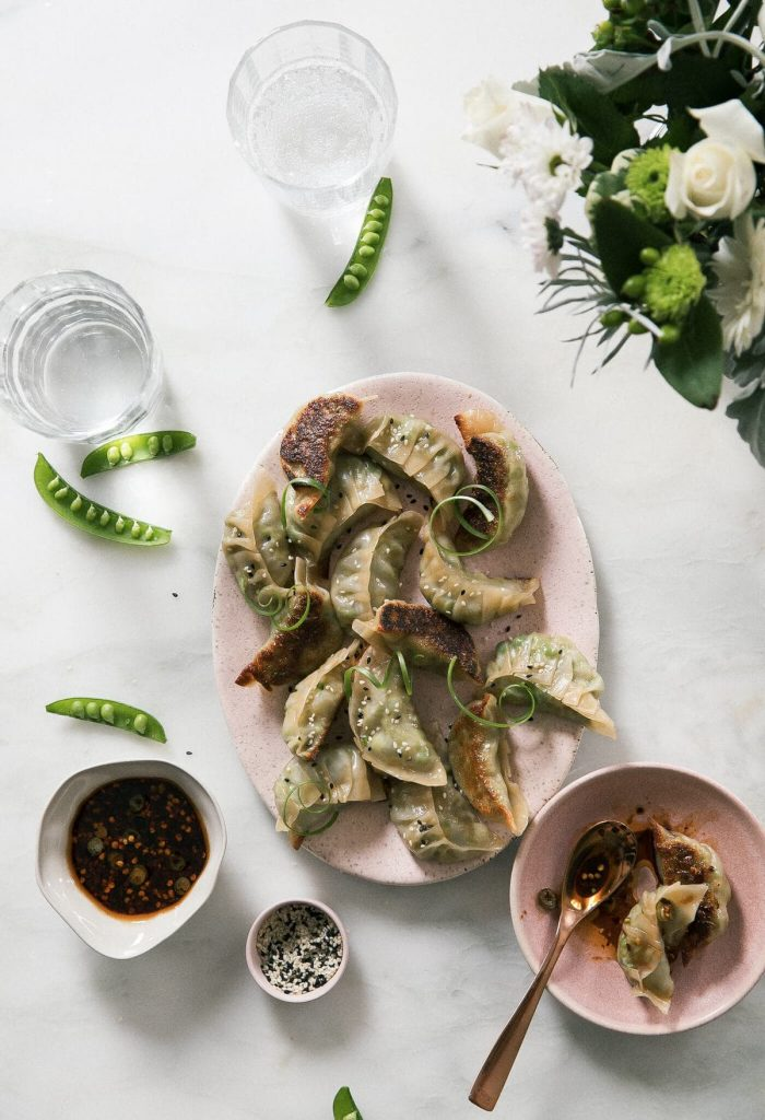 Spring Vegetable Pot Stickers A Cozy Kitchen