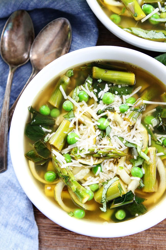 Spring Vegetable Zucchini Noodle Soup Two Peas and Their Pod