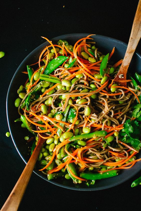 Sugar Snap Pea and Carrot Soba Noodles Cookie and Kate