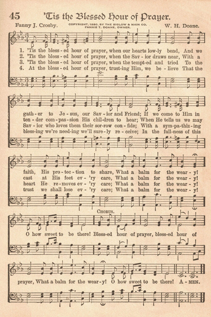 The American Hymnal 'Tis the Blessed Hour of Prayer