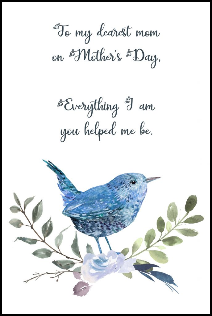 To My Dearest Mom Mother's Day Greeting Card