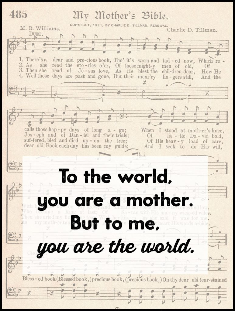 To the World You Are a Mother Greeting Card
